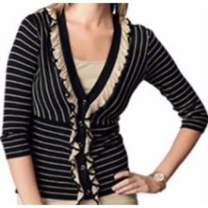 CAbi #276 The Flirt striped cardigan sweater A0714